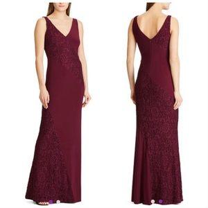 LAUREN RALPH LAUREN Exotic Ruby Lace Dress Size 8